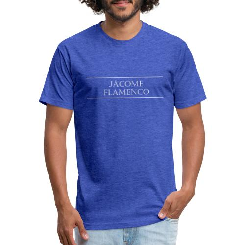 Jácome Flamenco - White Text Only - Fitted Cotton/Poly T-Shirt by Next Level