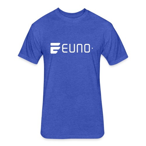 EUNO LOGO LANDSCAPE WHITE - Fitted Cotton/Poly T-Shirt by Next Level