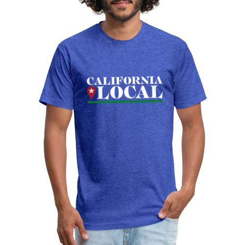 California Local Light on Dark - Fitted Cotton/Poly T-Shirt by Next Level