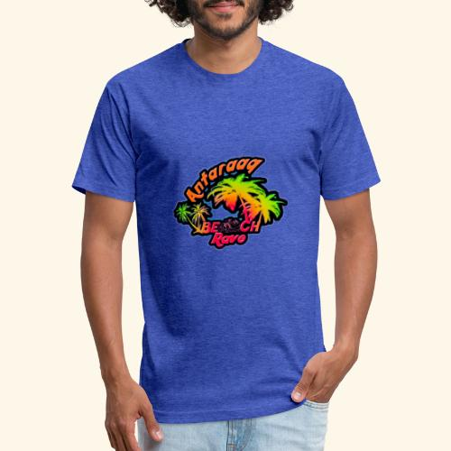 Antaraag Beach Rave Designs - Fitted Cotton/Poly T-Shirt by Next Level