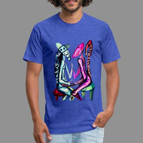Soulmate - Fitted Cotton/Poly T-Shirt by Next Level