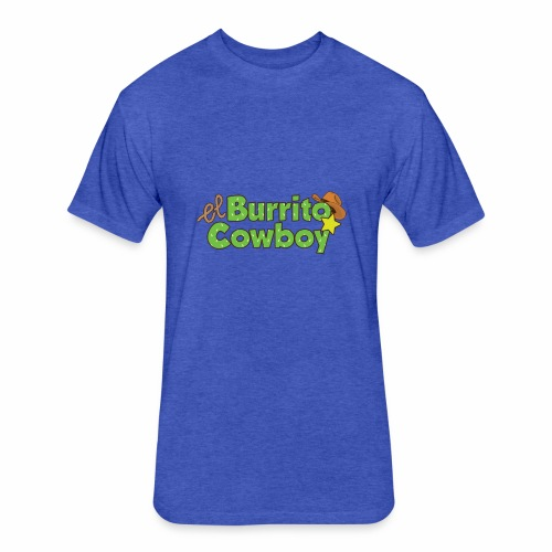El Burrito Cowboy LOGO - Fitted Cotton/Poly T-Shirt by Next Level