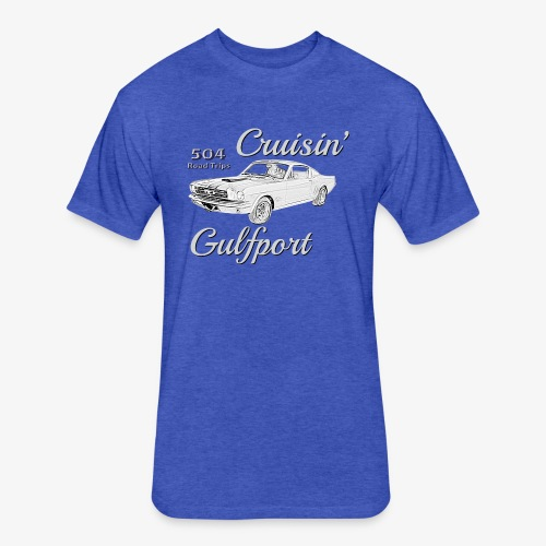Cruisin Gulfport Mustang - Fitted Cotton/Poly T-Shirt by Next Level