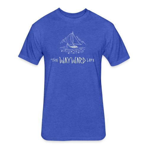 The Wayward Life White Logo - Fitted Cotton/Poly T-Shirt by Next Level