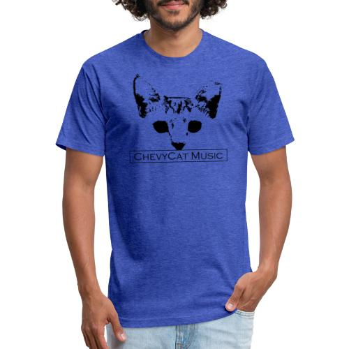 ChevyCat - Fitted Cotton/Poly T-Shirt by Next Level