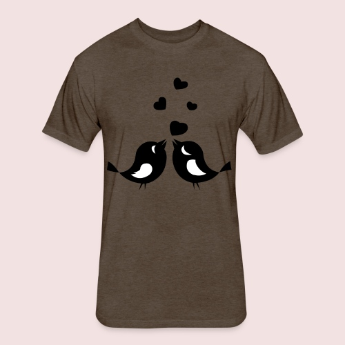 Love Birds - Fitted Cotton/Poly T-Shirt by Next Level