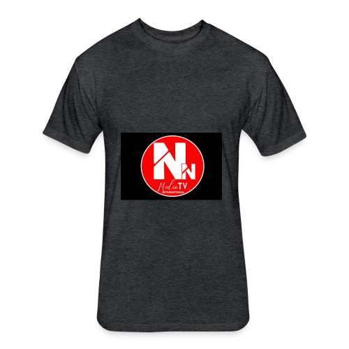 logo NN MEDIA TV - Fitted Cotton/Poly T-Shirt by Next Level
