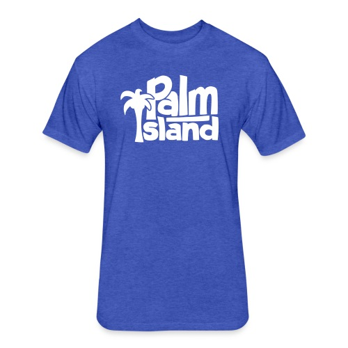 Palm Island - Fitted Cotton/Poly T-Shirt by Next Level