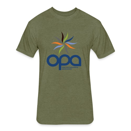 Short-sleeve t-shirt with full color OPA logo - Fitted Cotton/Poly T-Shirt by Next Level
