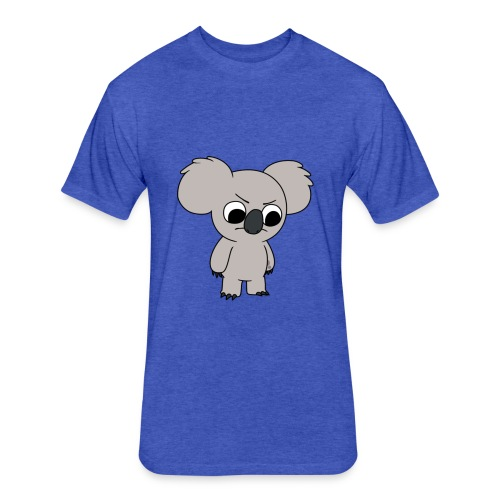 Angry Koala - Fitted Cotton/Poly T-Shirt by Next Level