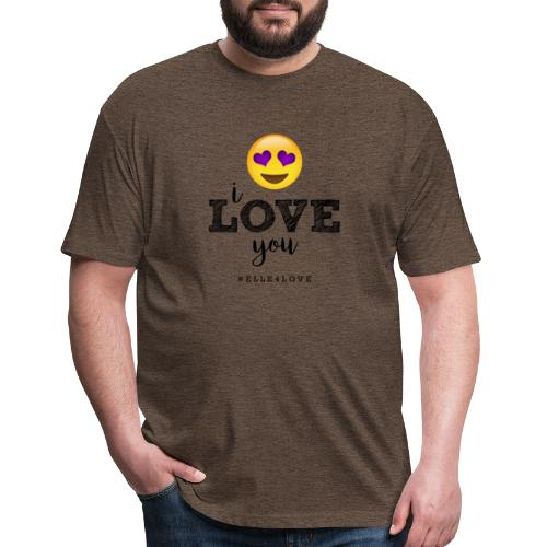 I LOVE you - Fitted Cotton/Poly T-Shirt by Next Level