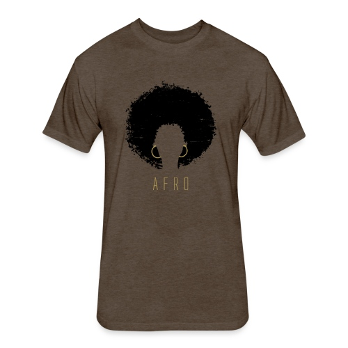 Black Afro American Latina Natural Hair - Fitted Cotton/Poly T-Shirt by Next Level