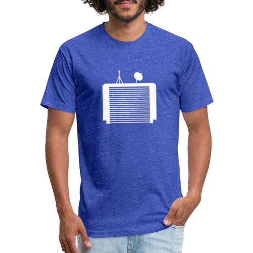 TechGarage White Logo - Fitted Cotton/Poly T-Shirt by Next Level