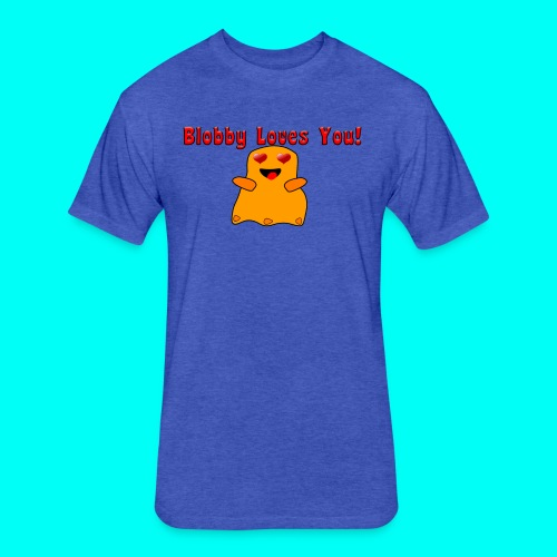 Blobby Loves You Shirt - Fitted Cotton/Poly T-Shirt by Next Level