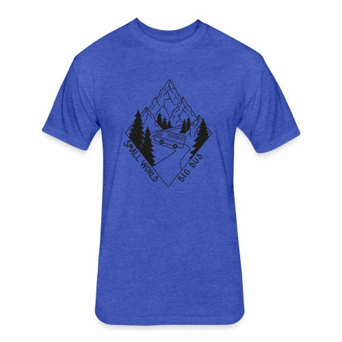 SWBB Black and White Mountain Road - Fitted Cotton/Poly T-Shirt by Next Level