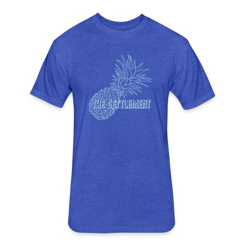 Pineapple with Band Name | The Settlement - Fitted Cotton/Poly T-Shirt by Next Level
