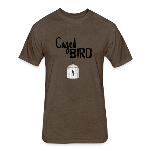 Caged Bird Abstract Design - Fitted Cotton/Poly T-Shirt by Next Level