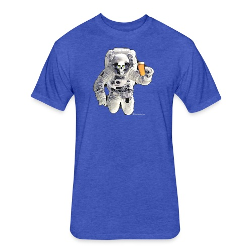 HOPSKULL Asronaut - Fitted Cotton/Poly T-Shirt by Next Level