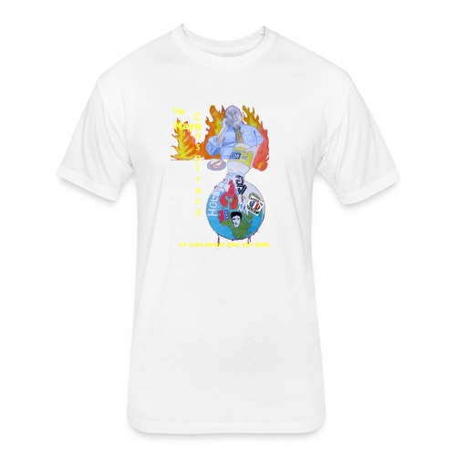 Mayo-Conspiracy - Fitted Cotton/Poly T-Shirt by Next Level