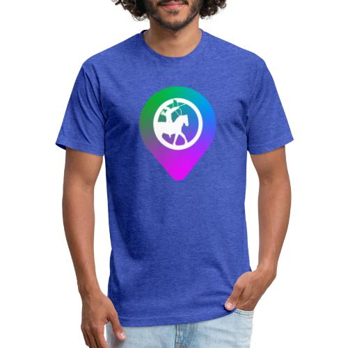 KC2Go Map Point - Fitted Cotton/Poly T-Shirt by Next Level