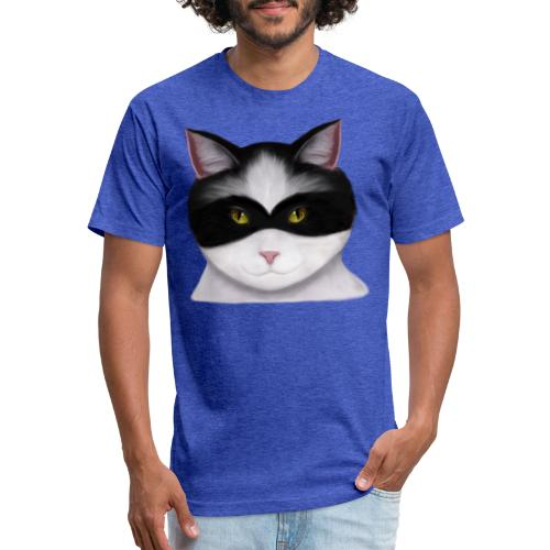 I am called the Masked Cat - Fitted Cotton/Poly T-Shirt by Next Level