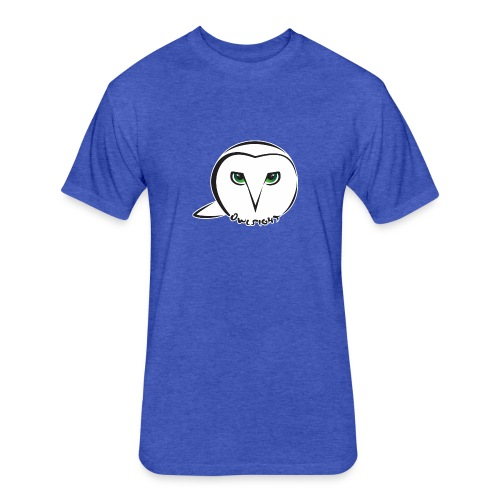 Owlsight - Fitted Cotton/Poly T-Shirt by Next Level