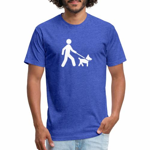 Walk the dog - Fitted Cotton/Poly T-Shirt by Next Level