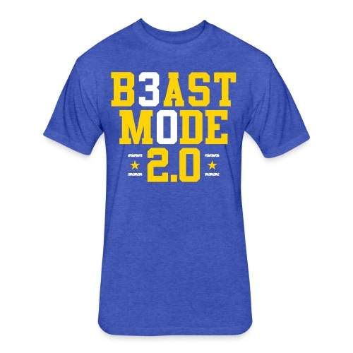 B3ast M0de 2.0 - Fitted Cotton/Poly T-Shirt by Next Level