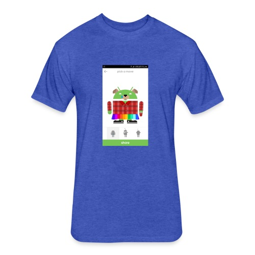 google cool - Fitted Cotton/Poly T-Shirt by Next Level