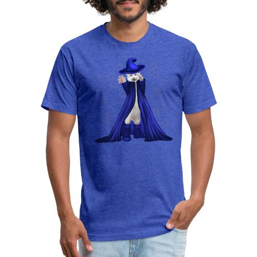 Cat Wizard with Stars - Fitted Cotton/Poly T-Shirt by Next Level
