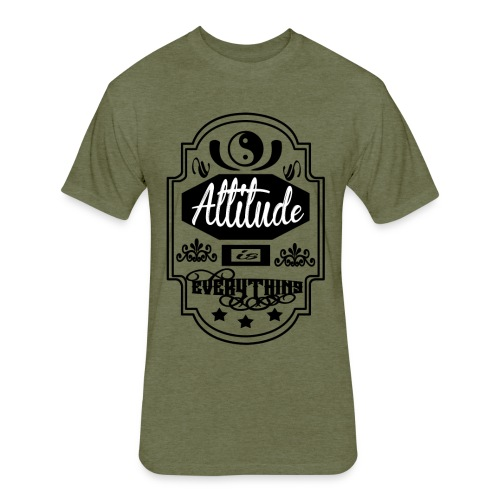 attitude - Fitted Cotton/Poly T-Shirt by Next Level
