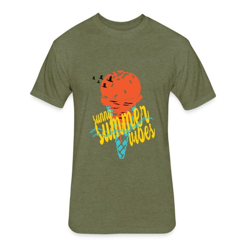 summervibes - Fitted Cotton/Poly T-Shirt by Next Level