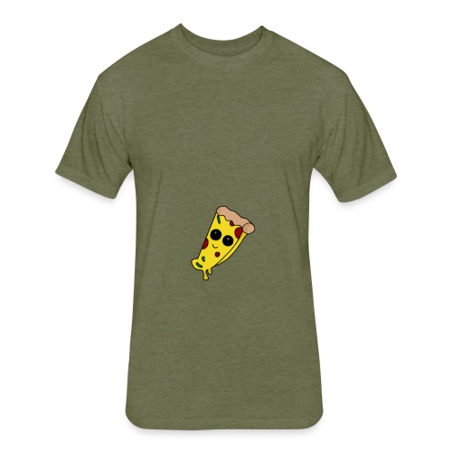 Pizza Kawaii - Fitted Cotton/Poly T-Shirt by Next Level