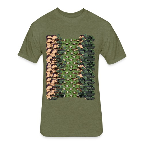 Money Tunnel - Fitted Cotton/Poly T-Shirt by Next Level