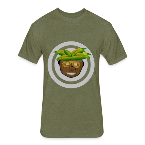 CocoNut Head - Fitted Cotton/Poly T-Shirt by Next Level