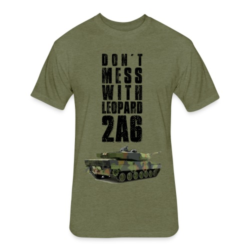 dont mess with leopard 2a6 rc tank - Fitted Cotton/Poly T-Shirt by Next Level
