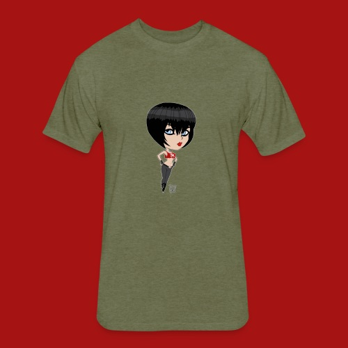 Mini Munchkin Scarlett Black - Fitted Cotton/Poly T-Shirt by Next Level