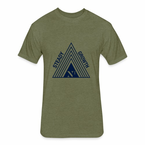 Steady Growth - Fitted Cotton/Poly T-Shirt by Next Level