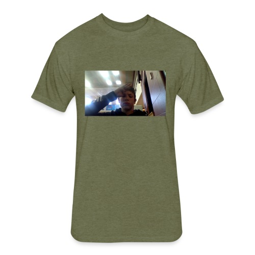 salute - Fitted Cotton/Poly T-Shirt by Next Level