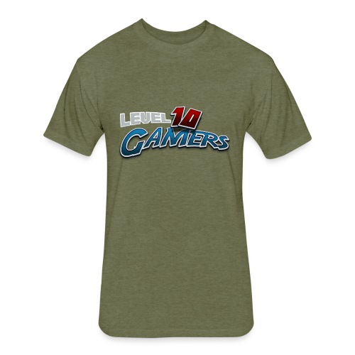 Level10Gamers Logo - Fitted Cotton/Poly T-Shirt by Next Level