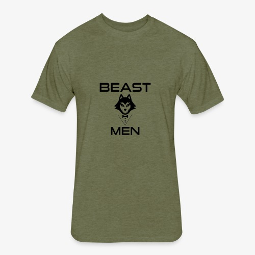 BEAST MEN WOLF PNG - Fitted Cotton/Poly T-Shirt by Next Level