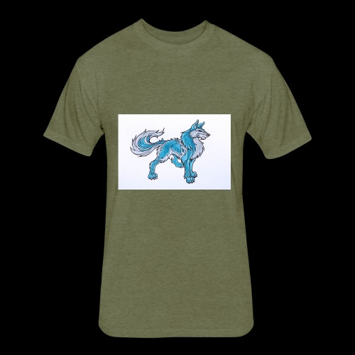 Draw Anime Wolves Intro - Fitted Cotton/Poly T-Shirt by Next Level