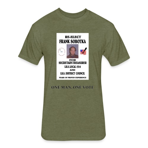 One Man One Vote - Fitted Cotton/Poly T-Shirt by Next Level