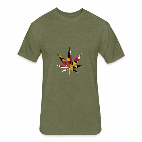 maryland cannnabis shirt - Fitted Cotton/Poly T-Shirt by Next Level