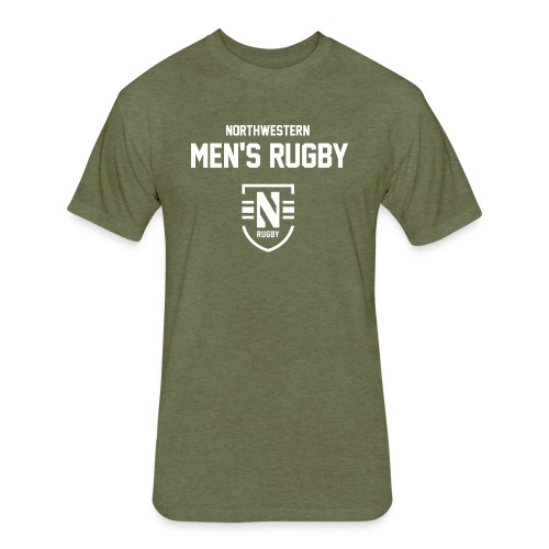 Rugby Logotype - Fitted Cotton/Poly T-Shirt by Next Level