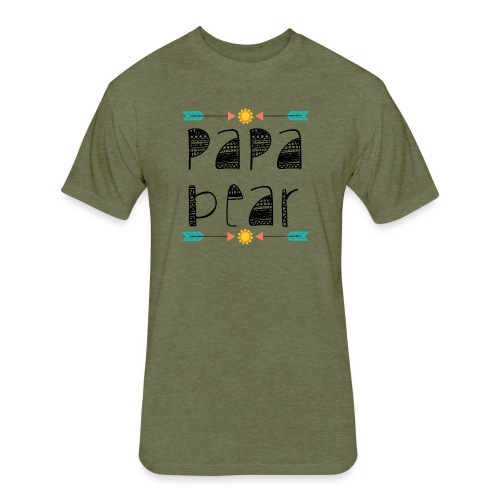 papa bear - Fitted Cotton/Poly T-Shirt by Next Level