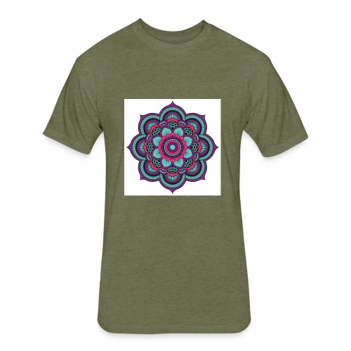 Mandala Magic - Fitted Cotton/Poly T-Shirt by Next Level