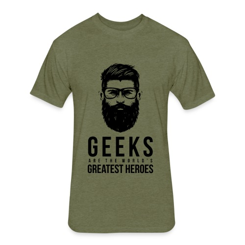 GEEK HERO - Fitted Cotton/Poly T-Shirt by Next Level