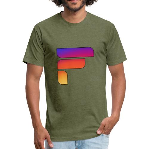 Frosty Rainbow Logo Center - Fitted Cotton/Poly T-Shirt by Next Level