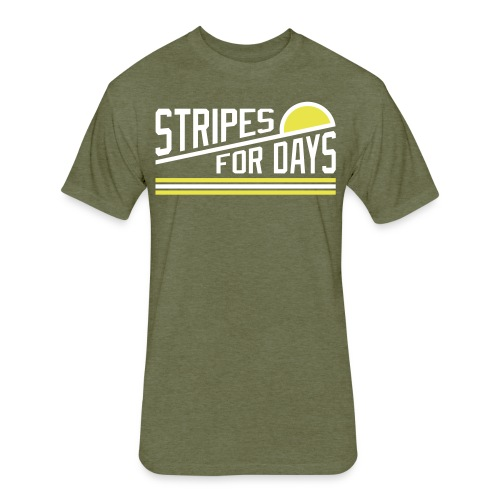 STRIPES FOR DAYS - Fitted Cotton/Poly T-Shirt by Next Level